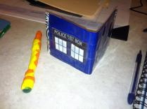 Duct Tape Tardis & Sonic Screwdriver