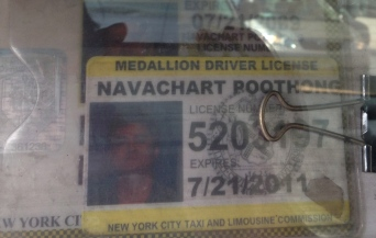 Poothong, our cabbie