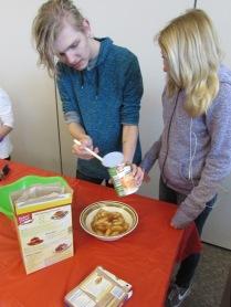 1. Scoop pie filling in microwave safe bowl